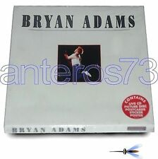 BRYAN ADAMS RARE BOX ITALY ONLY LIVE CD+ PICTURE DISC + POSTCARDS STICKER POSTER