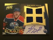Ryan Nugent-Hopkins Panini Prime Rookies ON CARD Auto/4-Jersey #65/199 Oilers