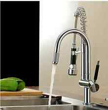 Kitchen Sink Pull Up e Down Spray in ottone cromato Tap Faucet Mixer RTR75687