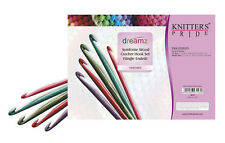 Knitter's Pride Dreamz Symfonie Wood Crochet Hook Set Single Ended 8 Hooks