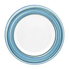 "Corelle BLUE SWIRLS 8 1/2"" LUNCH Luncheon Salad PLATE Fun RETRO Funky Bands *NEW"
