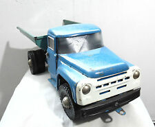 SOVIET VINTAGE RUSSIAN USSR LARGE 21'' PAINTED METAL TIN LORRY TRUCK ZIL TOY