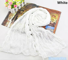 Womens Candy Color Long soft Silk Chiffon Scarf Wrap Shawl Pashmina Scarves 2017