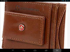 ALPINE SWISS Genuine Leather Money Clip front pocket wallet with magnet clip $45