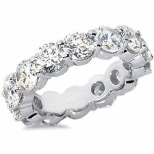 9.01 carat Round DIAMOND 18k White Gold Band ETERNITY RING 12 x 0.75 ct GIA F VS