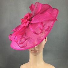 NEW Church Kentucky Derby Raspberry Pink Fascinator Dress Wedding Tea Party
