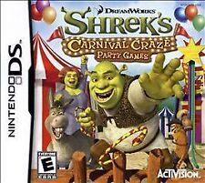 Shrek's Carnival Craze Party Games (Nintendo DS, 2008) Game Only FREE SHIPPING