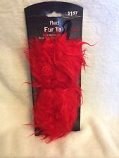 """Red Fur 17"""" Bendable Tail Dress Up Cosplay Costume Accessory New"""