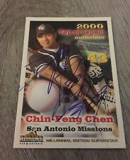 CHIN-FENG CHEN LOS ANGELES DODGERS TAIWAN SIGNED 2001 TEXAS LEAGUE TOP PROSPECT