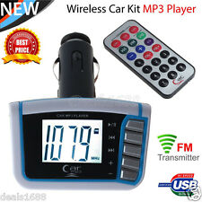 Wireless LCD Car Auto FM Transmitter MP3 Music Player Modulator USB SD TF Remote