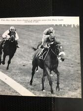L1-3 Ephemera 1968 Small Picture  Horse Racing Ascot Torpid Harry Lauder Zorba I
