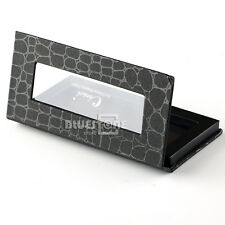 Empty Crocodile Pattern Magnetic Cosmetic Palette Eye Shadow Makeup Tray Box