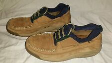 ColeHaan Country Casual Lace Slip Shoes Size 9 Tan c01242