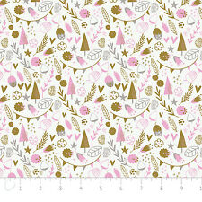 Fabric 100% Cotton Camelot Hello My Deer Trees