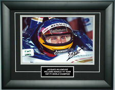 Jacques Villeneuve Signed 8X12 inches Williams Renault Photo Frame