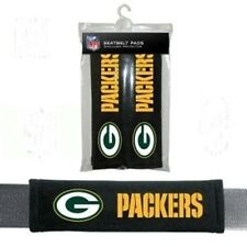 GREEN BAY PACKERS 2 VELOUR SEAT BELT LAPTOP GYM BAGS SHOULDER PADS NFL FOOTBALL