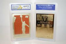 MICHAEL JORDAN 1986 Fleer ROOKIE Feel The Game 23KT Gold Card Graded GEM MINT 10