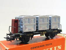 Märklin H0 4614 Behältertragwagen m. Brhs. von Haus zu Haus DB OVP (Q9747)