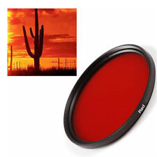 58 mm Full Red Round Filter in Original Manufactory Box for Canon Sony DSLR Lens