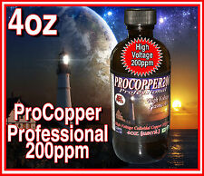 PROFESSIONAL Pro Colloidal Copper *4oz**118ml**200ppm High Voltage Plasma Arc