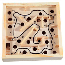 Wooden Labyrinth Board Ball Puzzle Game Children Educational Toys For Kids Child