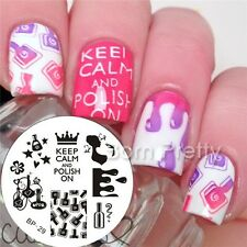 Nagel Schablone BORN PRETTY Nail Art Stamp Stamping Template Plates 29