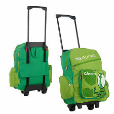Wheelie Roller Backpack Rucksack School Holiday Travel Pull Along Trolley Case