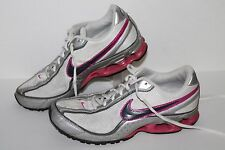 Nike Impax Running Shoes, #316517-101, White/Silver/Pink, Women's US Size 8.5