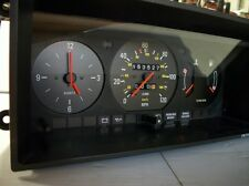 Volvo 240 series Gauge Cluster 120mph Clock Temp Fuel Good knobs 1981-1985