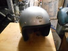 NOS Vintage Cafe Buco Solid Silver Fiberglass Small Motorcycle Helmet 1759-2