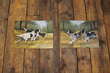 "2 Piece Lot / 1960s Vintage  "" Paint by Number "" Paintings "" HUNTING SPANIELS """