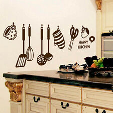 New Removable Happy Kitchen PVC Mural Decal Wall Stickers Home Decor Art Vinyl