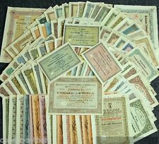 25 DIFF MEGA RARE GERMAN EMPIRE BANK BONDS 1900-45 MOSTLY NAZI! VALUES TO $200!!