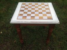 STYLISH WOODEN CHESS BOARD GAME TABLE