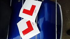 L PLATES x 2 (SELF ADHESIVE) MOPED SCOOTER MOTORCYCLE & CARS