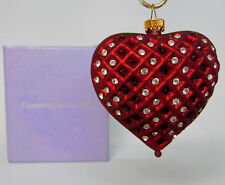 NEW Expressions HEART OF HOG Blown Glass LE ORNAMENT Made w/ Swarovski Crystal!