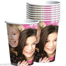 (8) iCARLY 9oz PAPER CUPS ~ Birthday Party Supplies Beverage Nickelodeon Drink