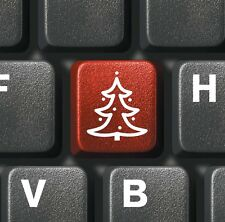 6 x Modern Blank Christmas Cards Pack Keyboard with Christmas Tree & FREEPOST