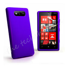 Plain Soft Silicone Gel Rubber Back Skin Case Cover For Nokia Lumia 820