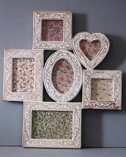 Large Vintage WOODEN COLLAGE Photo Picture Frame Shabby Chic Carved 56 x 48cm
