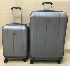 "Delsey Helium Shadow 3.0 Set 21"" Carry On & 29"" Expandable Spinner Silver"