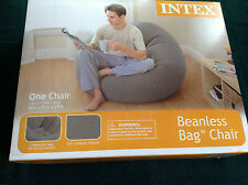Intex Beanless Bag Chair Inflatable Contoured Seat Corduroy Texture NIB