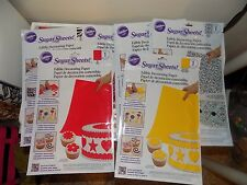 Lot of 10 Wilton Sugar Sheets Edible Sugar Decorating Paper-NEW