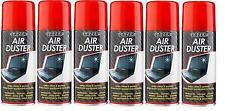 6 x 200ml Compressed Air Duster Spray Can Cleans Protects Laptops Keyboards New