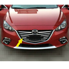 ABS Chrome Front Bumper Center Grille Grid Cover Trim Insert For MAZDA 3 Sliver