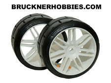 1:5 NEW Compound GRP Touring car tires on white wheels (2) GWH02-P5 Medium
