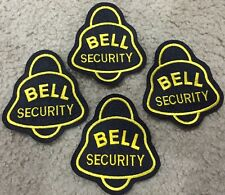 "(4) Bell Security 4"" Embroidered Patch Lot NEW Bell Telephone"