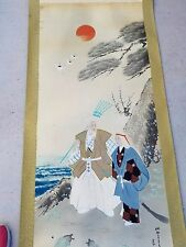 Japanese Hanging Scroll Collectible Art Vintage Traditional Home Deco Samurai