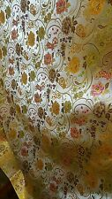 "5M GOLD  floral Chinese Brocade Fabric Shiny Silky,  material 45""wide"