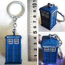 New & Hot BBC Doctor Who TARDIS A telephone booth 3D Blue 5cm Key chain ring